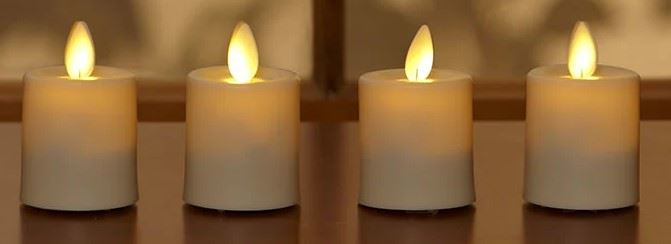photo of flameless candle